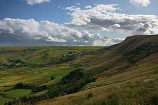 Peak District Upland area in England