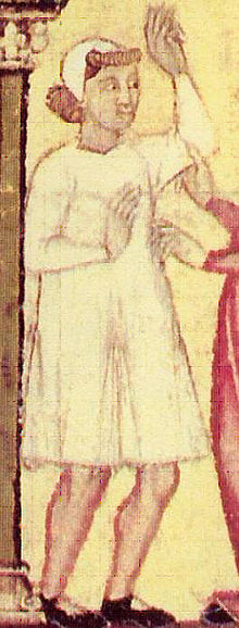67ecc211b8 1200–1300 in European fashion - Image: Man in shirt and coif
