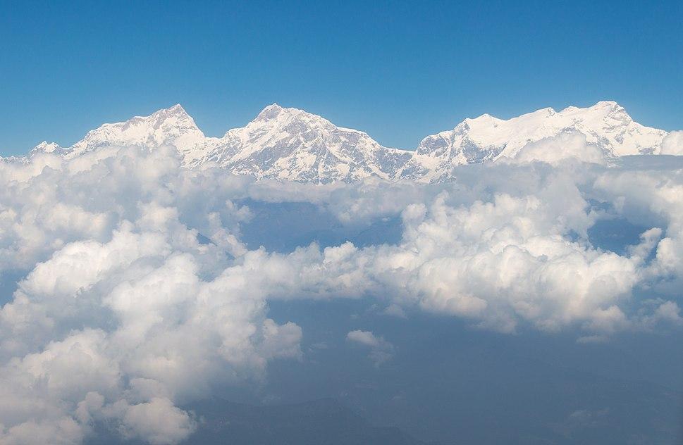 Manaslu Himal air view