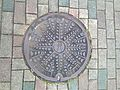 Manhole cover of Ogori, Fukuoka.jpg
