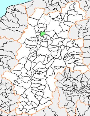 Ōoka, Nagano - Location of Ōoka in Nagano Prefecture