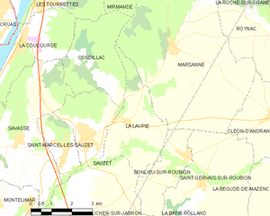 Map commune FR insee code 26157.png