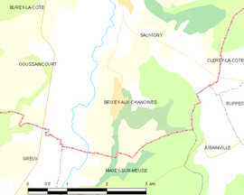 Mapa obce Brixey-aux-Chanoines