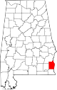Map of Alabama highlighting Henry County.svg