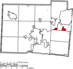 Location of Lemon Township in Butler County
