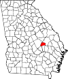 Map of Georgia highlighting Treutlen County.svg