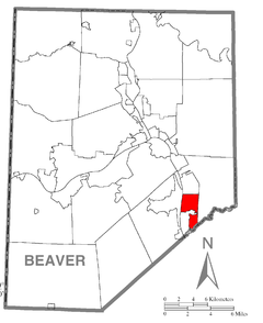 Map of Harmony Township, Beaver County, Pennsylvania Highlighted.png