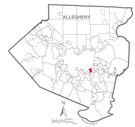 Map of Homestead, Allegheny County, Pennsylvania Highlighted.png