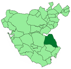 Location of Jimena de la Frontera