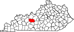 State map highlighting Grayson County