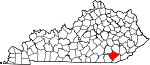 State map highlighting Knox County