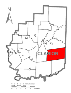 Map of Limestone Township, Clarion County, Pennsylvania Highlighted.png