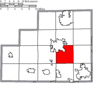 Montville Township, Medina County, Ohio - Image: Map of Medina County Ohio Highlighting Montville Township