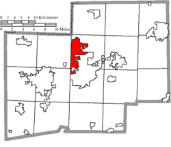 Location of North Canton in Stark County