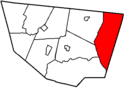 Map of Sullivan County Pennsylvania Highlighting Colley Township.png