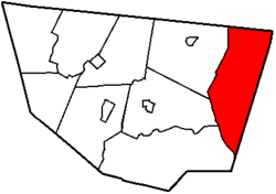 Map of Sullivan County, Pennsylvania highlighting Colley Township