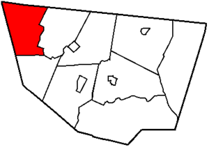 Fox Township, Sullivan County, Pennsylvania - Image: Map of Sullivan County Pennsylvania Highlighting Fox Township