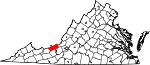 State map highlighting Giles County