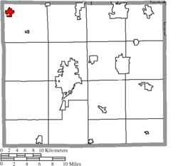 Location of West Salem in Wayne County