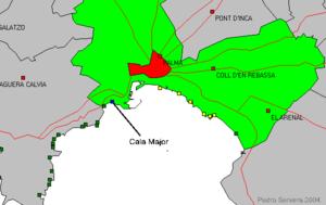 Mallorca Karte Strande.Cala Major Wikipedia