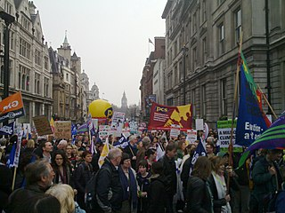 Anti-austerity movement in the United Kingdom series of anti-austerity protests that took place in the United Kingdom in early 2011