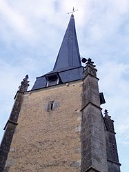 The bell tower of the church of Notre-Dame