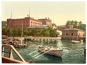 German Imperial Naval Academy - The Marineakademie at Kiel in 1900