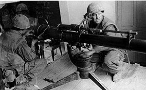 Spotting rifle - US Marines with a 106 mm M40 recoilless rifle in Huế