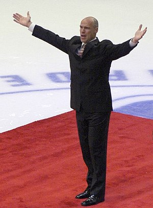 "Mark Messier - Messier in 2006 on ""Mark Messier Night""."