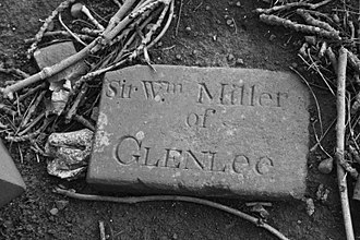 William Miller, Lord Glenlee - Marker stone to Lord Glenlee, New Calton Burial Ground