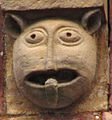 Marmoutier, Romanesque animal head.jpg