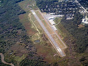 Marshfield Municipal Airport aerial view, September 2015.JPG