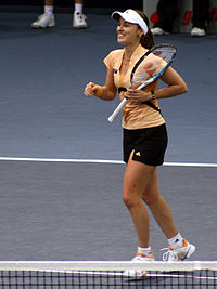 Hingis won 12 titles, including 3 slams and reaching the final of all 4 slams