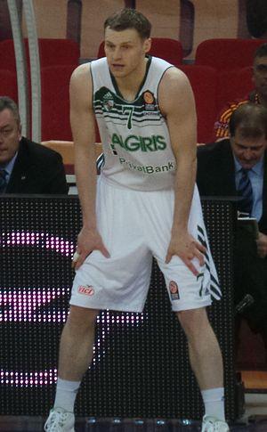 Martynas Pocius - Pocius with Žalgiris jersey