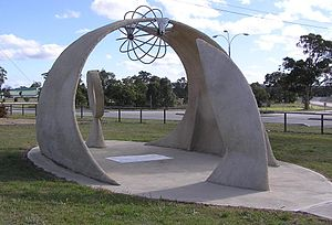 150th meridian east - 150° monument in Marulan, New South Wales