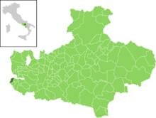 Il comune all'interno della provincia di Avellino