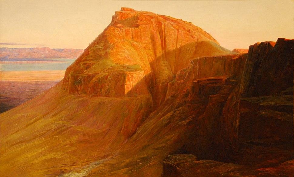Masada (or Sebbeh) on the Dead Sea, Edward Lear, 1858