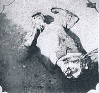 Massacred corpse of a Japanese victim of the Tungchow Massacre.jpg