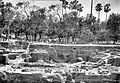 Mauryan ruins at Kumrahar site of Pataliputra ASIEC 1912-1913.jpg