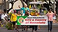 Mayor Kirk Caldwell riding on a horse, 100th King Kamehameha Parade 2016 (28488029265).jpg