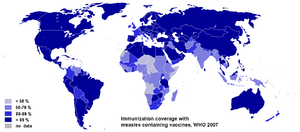 Immunization coverage with measles containing ...