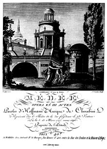 Title page of the first edition of Cherubini's Médée, full score, 1797 (Source: Wikimedia)