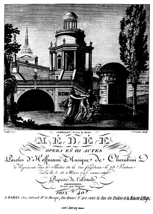Opéra comique - Title page of the first edition of the full score of Médée by Cherubini, 1797