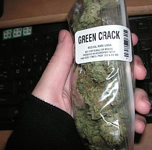 An ounce of Green Crack bought from a dispensa...