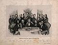 Medical professors at the University of Vienna. Lithograph b Wellcome V0006771.jpg