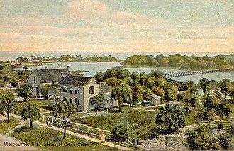 History of Brevard County, Florida - Crane Creek, Melbourne circa 1900