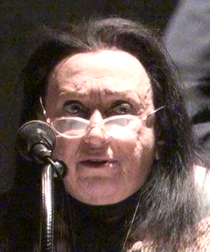Judith Malina - Malina reading at the 2011 Anarchy Art Festival