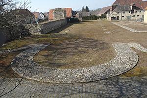 Memleben Abbey - Foundations of the Memleben abbey church
