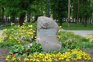 Red Terror - Memorial stone to victims of the Red Terror in Daugavpils