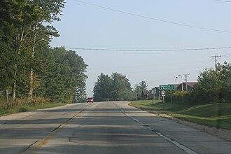 Menominee County, Wisconsin - Entrance sign on WIS 55 near Keshena